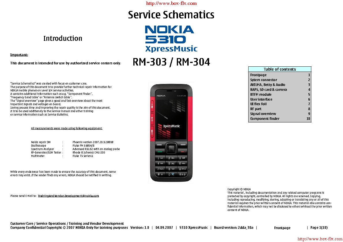 Service Manual For Nokia 5310 Rm 303 Schematic Schematics Electronic Diagram May 2007 Write The Numbers Correctly And Click Download