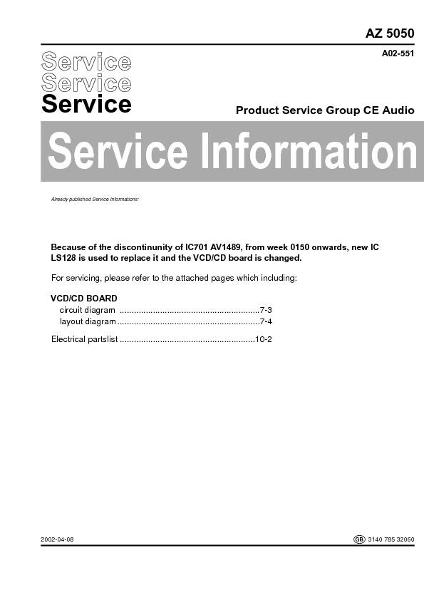 service manual for philips az 5050 az 5050 schematics datasheets rh service diagrams com Philips Schematics Philips Television