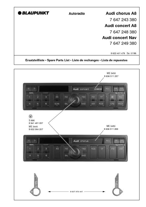 service manual for blaupunkt audi chorus a8 blaupunkt audi chorus a8 rh service diagrams com blaupunkt autoradio service manual blaupunkt rd4 n1 service manual