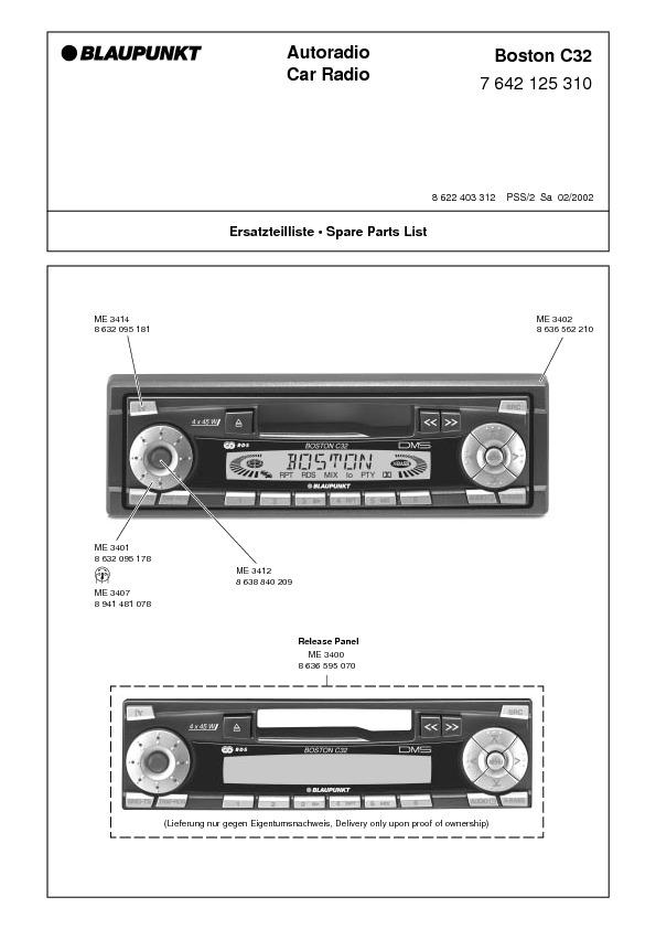 service manual for blaupunkt boston c32 blaupunkt boston c32 rh service diagrams com blaupunkt rd4 n1 service manual blaupunkt autoradio service manual