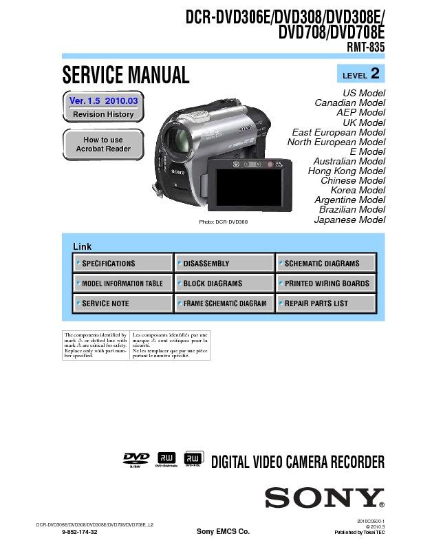 Sony dcr dvd308e инструкция