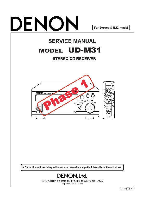 service manual for denon denon ud m31 denon ud m31 schematics rh service diagrams com M31 Gun M31 Rifle