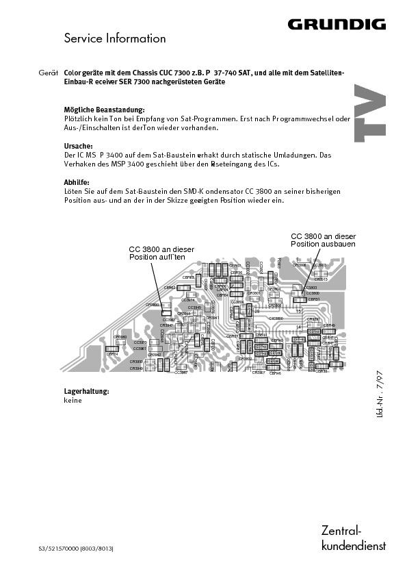 service manual for grundig grundig cuc7300 no sound grundig cuc7300 rh service diagrams com Owner's Manual Auto Repair Manual