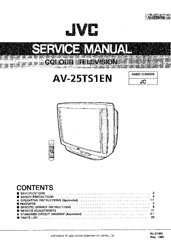 service manual for jvc jvc av 25 ts1 jvc av 25 ts1 schematics rh service diagrams com jvc tv service manual pdf jvc tv service manual pdf
