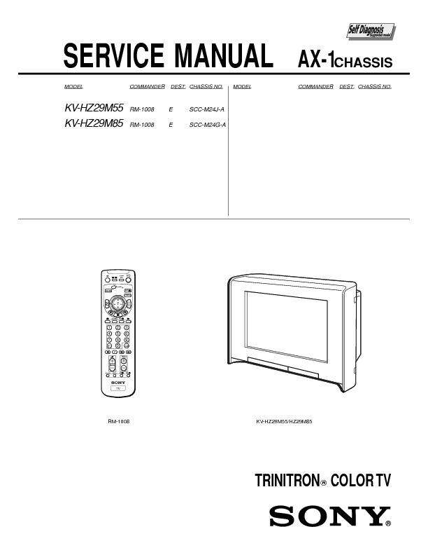 service manual for Sony KV-HZ29M55_KV-HZ29M85_AX-1 KV-HZ29M55 KV ...