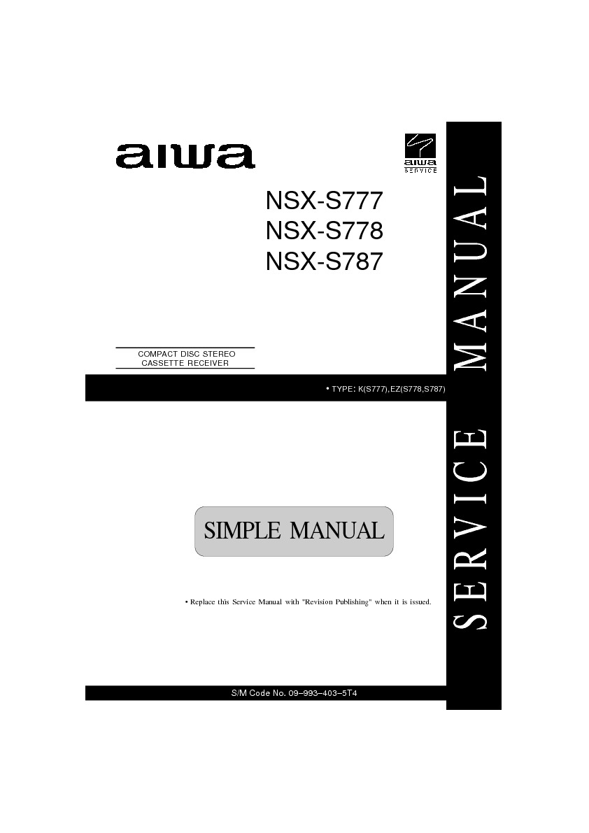 nsx service manual how to and user guide instructions u2022 rh taxibermuda co V70.00 Diagnosis Code aiwa nsx-v70 service manual