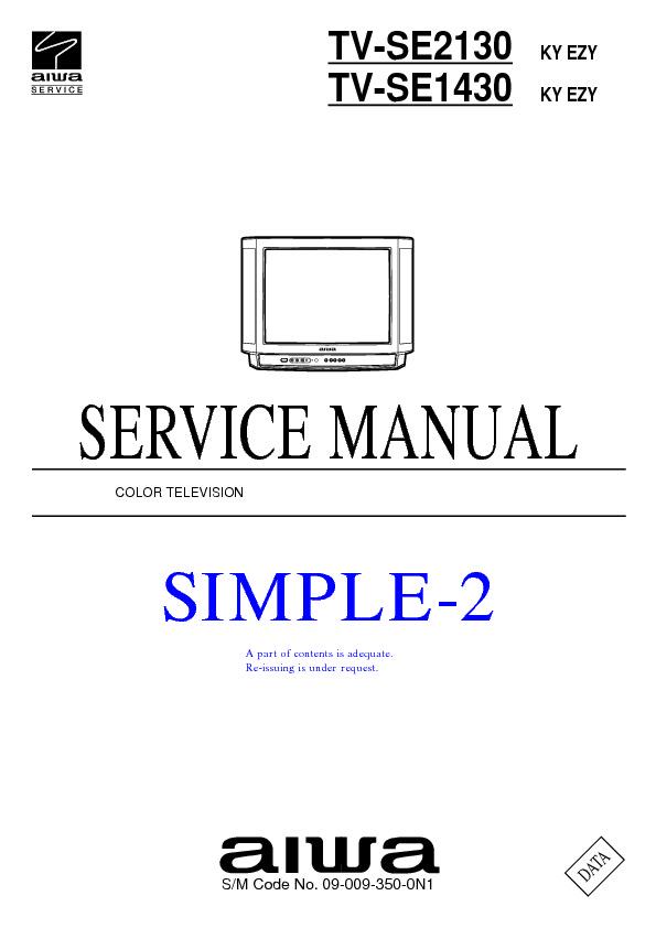 service manual for aiwa tv se2130 tv se2130 schematics datasheets rh service diagrams com  aiwa tv-c201ker service manual