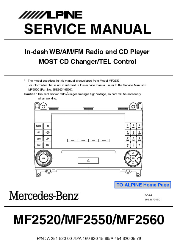 service manual for alpine mercedes mf2520 mf2550 mf2560 alpine rh service diagrams com alpine car audio cda-9884 manual alpine car audio instruction manuals